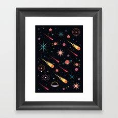 Fly Through Space Framed Art Print