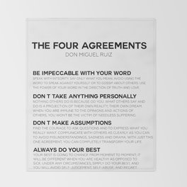 the four agreements Throw Blanket