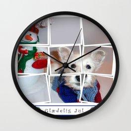 Glædelig Jul Wall Clock