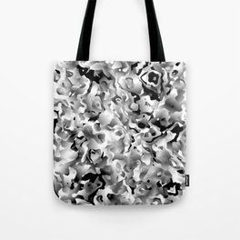 Liquid Flowers Black and White Tote Bag