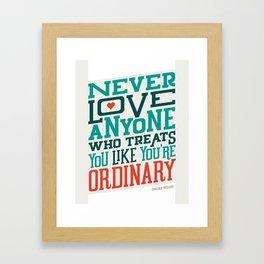 Never Ordinary - Oscar Wilde Framed Art Print