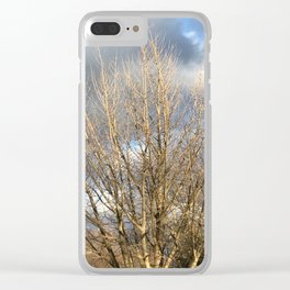 Tree in storm Clear iPhone Case