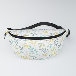 Assorted Leaf Silhouettes Color Mix Fanny Pack