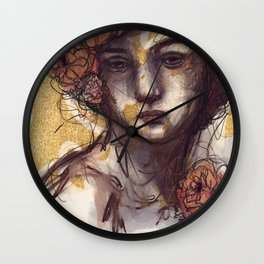 With a Protected Heart Wall Clock