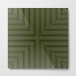 Angular Lines VI Metal Print