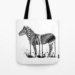 Melting Zebra Tote Bag