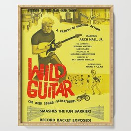 Vintage Film Poster for - Wild Guitar (1962) Serving Tray