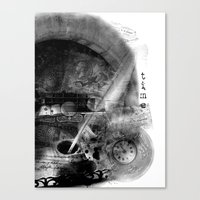 letter Canvas Prints featuring Letter by yulka