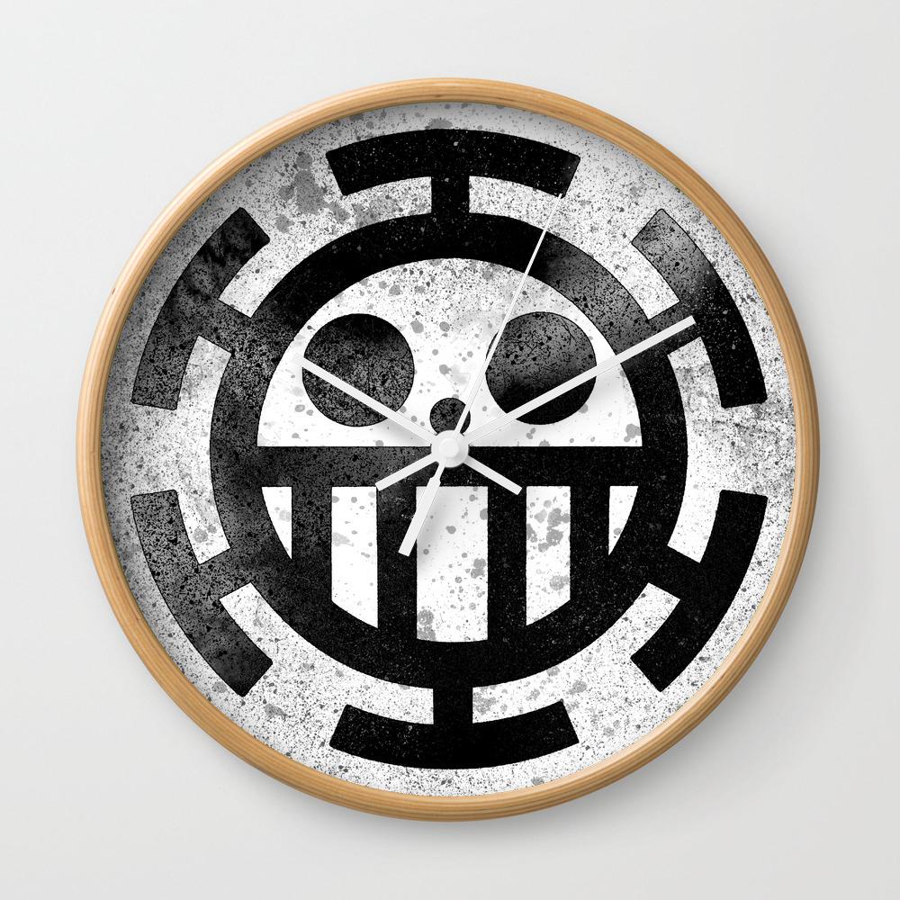 One Piece Trafalgar Law Logo Wall Clock By Maxiposters Society6
