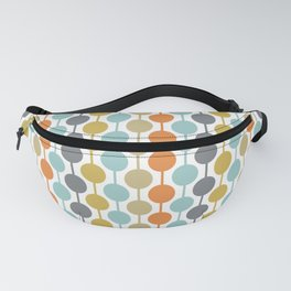 Retro Circles Mid Century Modern Background Fanny Pack