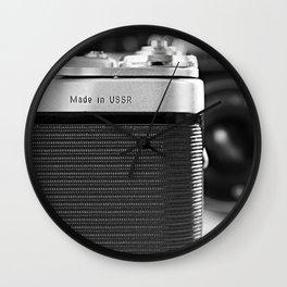 Fragment of old Soviet photo camera Wall Clock