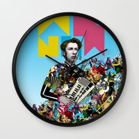 rave Wall Clocks featuring RAVE by DIVIDUS