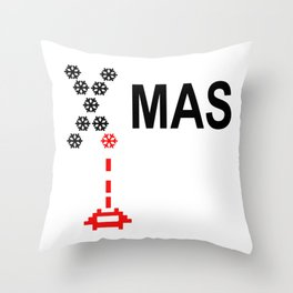 X-Mas Invader Throw Pillow