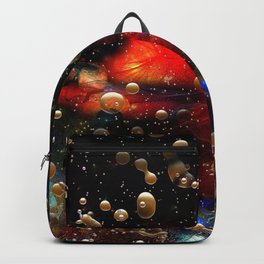 Cosmic Abstract with Golden Rain Backpack