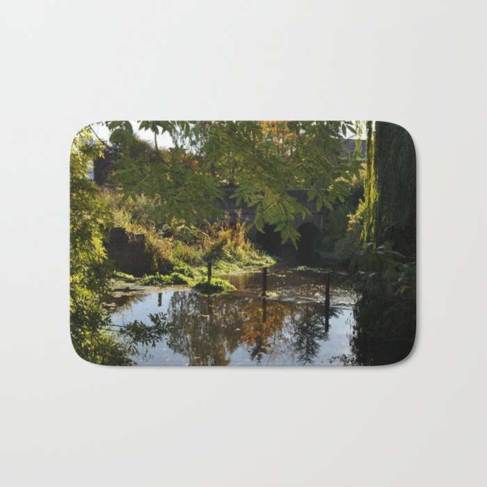 River by the mill  Bath Mat