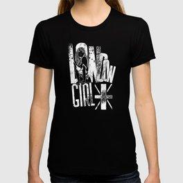 London Girl United Kingdom Union Jack white T-shirt