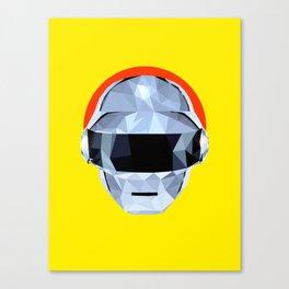 Daft Low Poly Punk Canvas Print