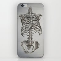 skeleton iPhone & iPod Skins featuring Skeleton by Trisha Thompson Adams