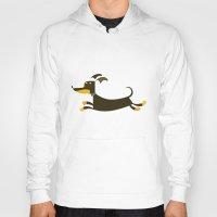 dachshund Hoodies featuring Dachshund by Fabio Rex