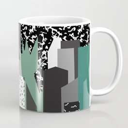 Postmodern 80's NYC Travel Poster Coffee Mug