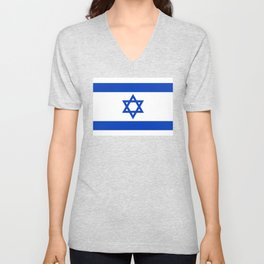 Israel Flag - High Quality image Unisex V-Neck