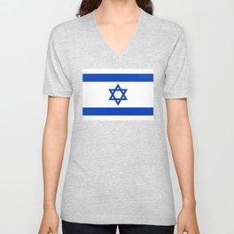 Israeli Flag of Israel Unisex V-Neck