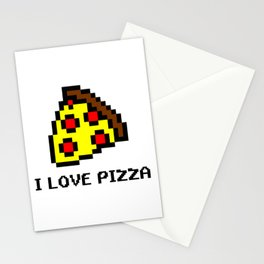 Pixel Pizza Stationery Cards