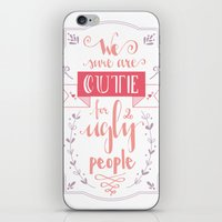 lettering iPhone & iPod Skins featuring Lettering - Juno by aysenur