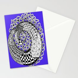 Zentangle Mobius Purple Stationery Cards