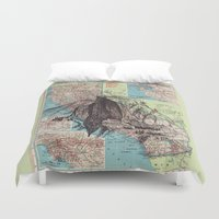 california Duvet Covers featuring California by Ursula Rodgers