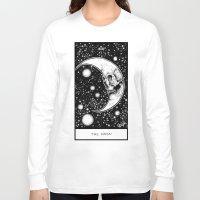 tarot Long Sleeve T-shirts featuring Moon Tarot by Corinne Elyse
