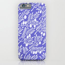 Olive Branches – Periwinkle iPhone Case