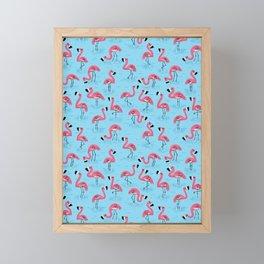 Flamingos Framed Mini Art Print