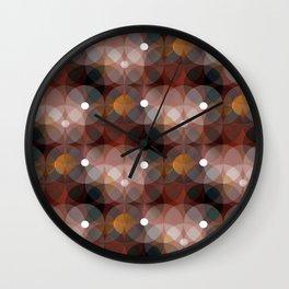 Spheres (mahogany) Wall Clock