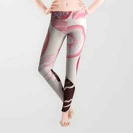 Vector pattern with sweet pink donuts design Leggings