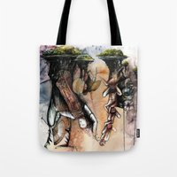 indonesia Tote Bags featuring Indonesia by Andreas Derebucha