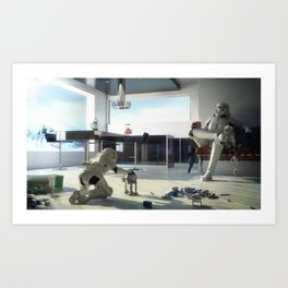 Stormtrooper Father and Son Art Print