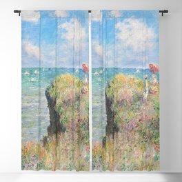 Cliff Walk at Pourville (1882) by Claude Monet Blackout Curtain