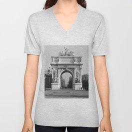 Vintage Dewey Arch Photograph (1900) Unisex V-Neck