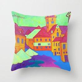 Town Throw Pillow