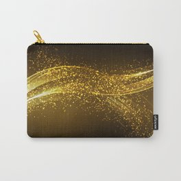 Gold faux glitter wave modern design Carry-All Pouch