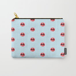 SEXY LIPS ((baby blue)) Carry-All Pouch