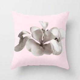 Gray geranium on Pink Throw Pillow