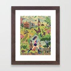 Run Around The World Framed Art Print