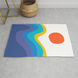 Abstract Y Minimum Colorful Pattern Rug
