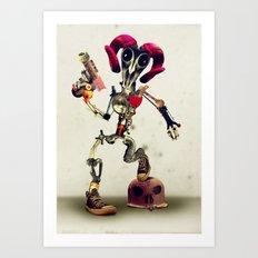 Invader Skull Art Print