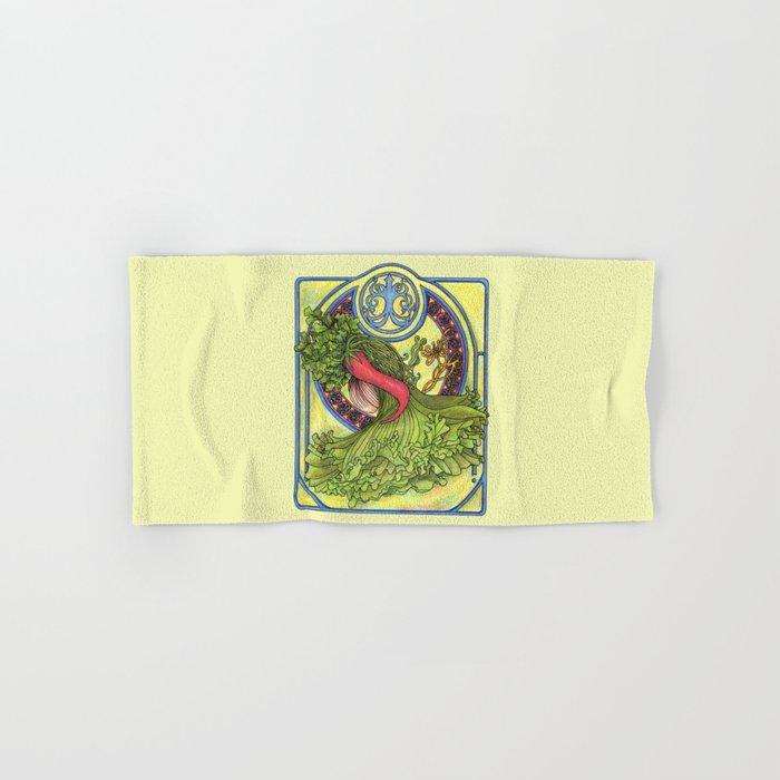 Art nouveau. Spices and vegetables Hand & Bath Towel