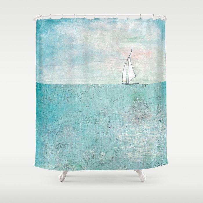 Boat Shower Curtain By Kendrashedenhelm