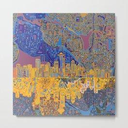 seattle city skyline Metal Print