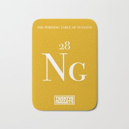 Periodic Table of Nuggets Bath Mat